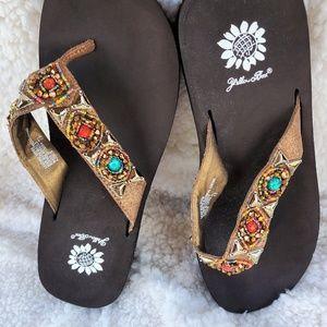 Sandals jeweled NWOT